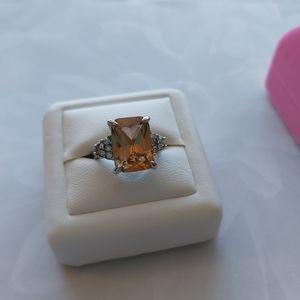Rhinestone Crystal Silver Ring